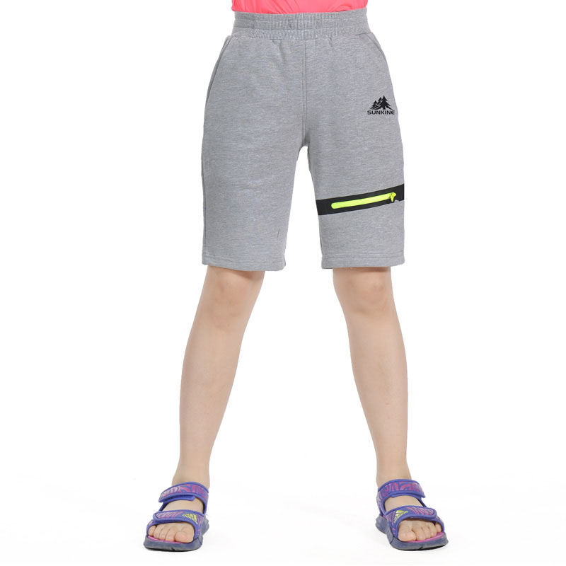 Summer Kids Cotton Breathable Leisure Sport Running Hiking Outdoor Shorts Boys Girls Climbing Camping Elastic Short Trousers