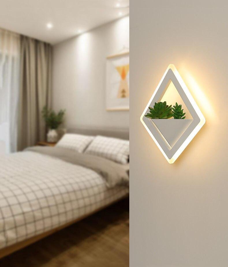 (Wecus) nova arte planta luz de parede