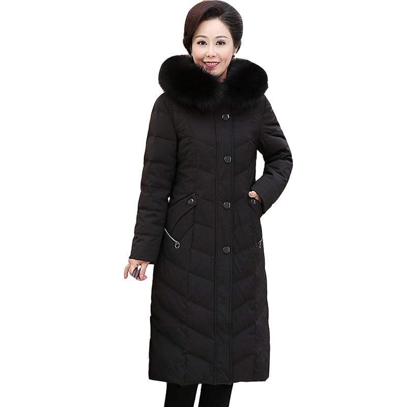 magasiner pour véritable achat le plus récent Prix usine 2019 Nouveau Parkas femme d'âge moyen hiver doudoune épais dessus chaud femmes  Long manteau grande taille 7XL à capuche blanc canard vers le bas manteaux  ...