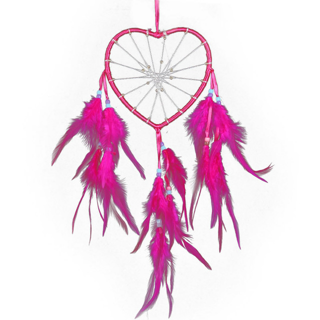 Vintage Home Decoration Heart Dreamcatcher with Feathers Indian ...