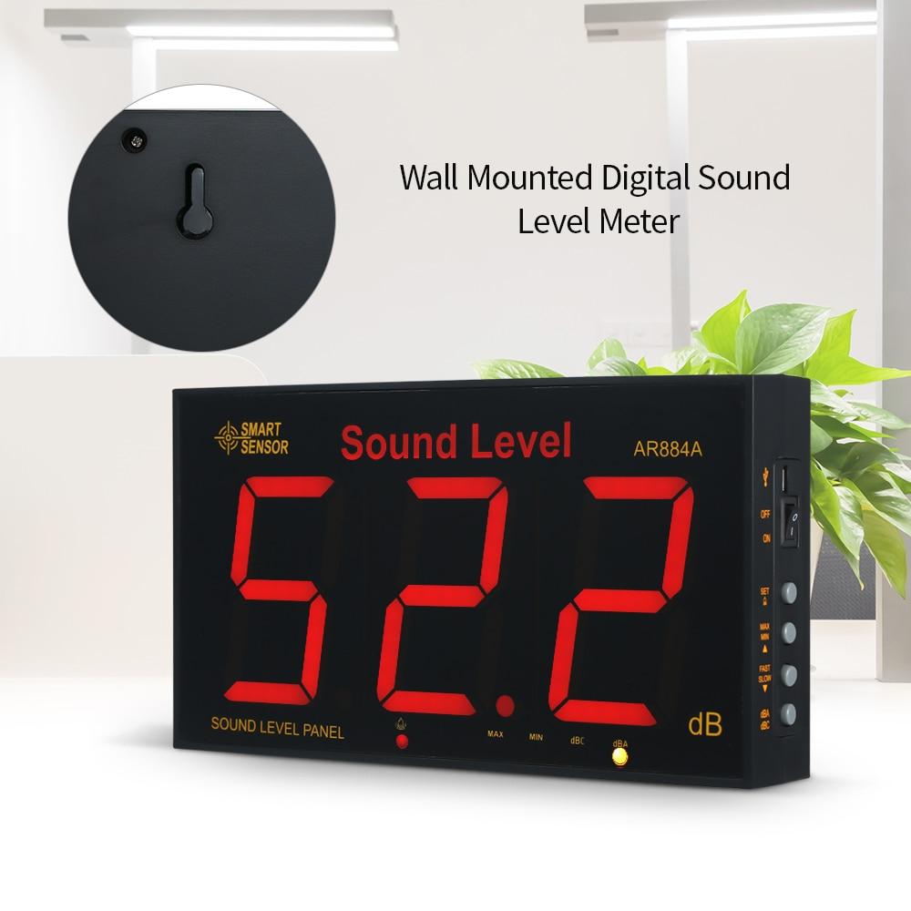 Capteur intelligent numérique sonomètre LCD mural sonomètre 30-130dB gamme de mesure outils de Diagnostic