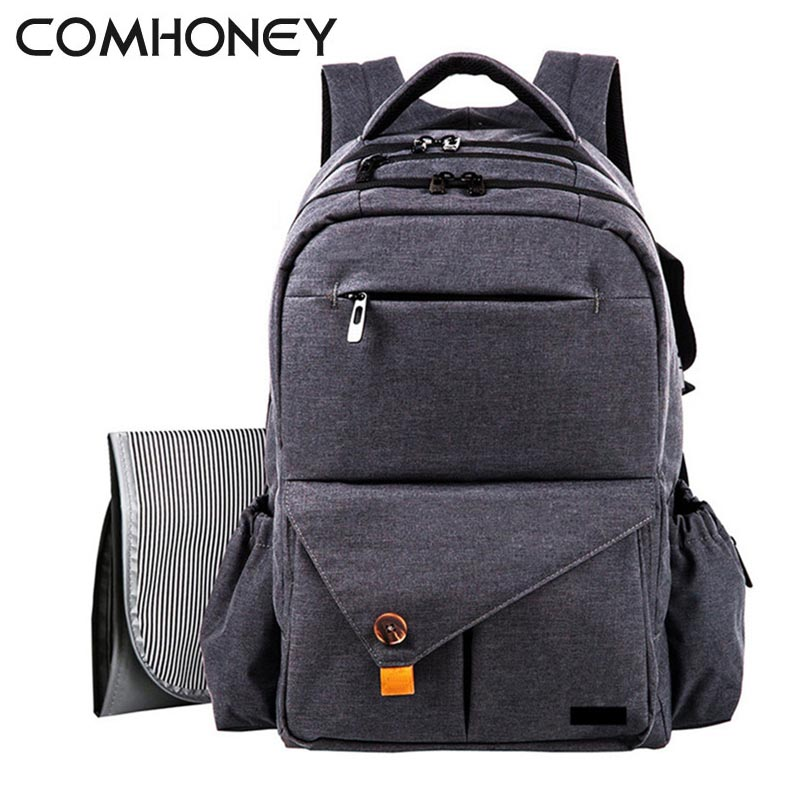 Baby Diaper Backpack Solid Stroller Bags Big Capacity Baby Nappy Bags Insulated Mother Maternity Changing Bag Baby Accessories 2016 big capacity functional maternity backpack baby diaper bags nappy changing bags for travel mother mummy bags free shipping