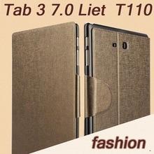 Para Samsung T110 T111 caso de moda de lujo Ultra thin folio cubierta para Samsung Galaxy Tab 3 Lite 7.0 T110 T113 T116 tablet