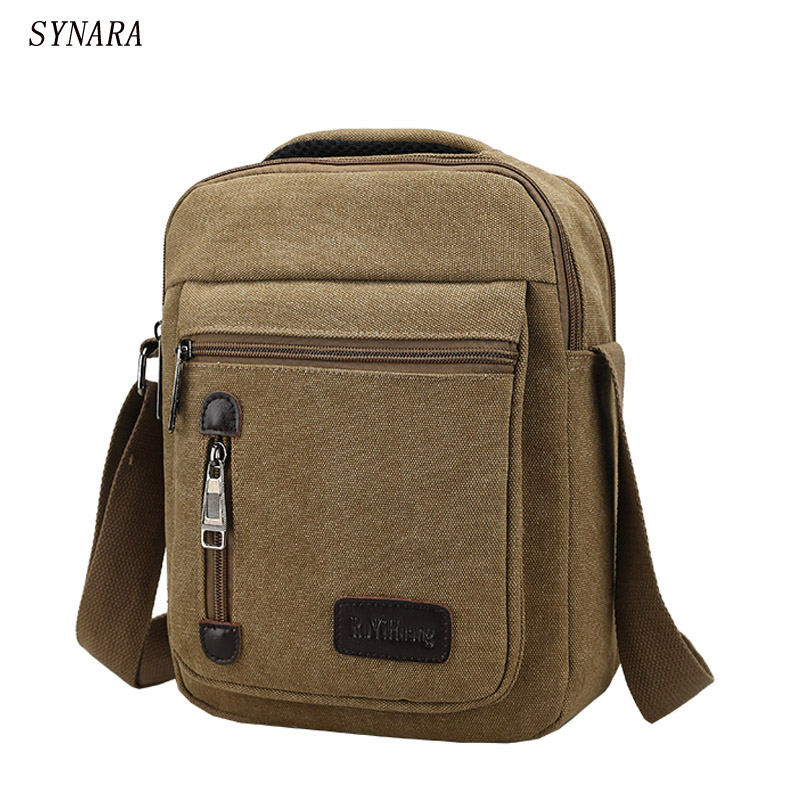 New Men Messenger Bags Canvas Vintage Bag Men Shoulder Crossbody Bags for Man Brown Black Small Bag Designer Handbags Bolso high quality men canvas bag vintage designer men crossbody bags small travel messenger bag 2016 male multifunction business bag