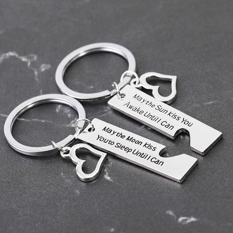 Hot Set Anniversary Gift His And Hers Gifts Matching Heart Valentine S Day Gift Key Chains Aliexpress