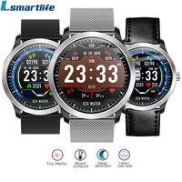 N58 ECG Smartwatch Men Display Heart Rate Sleep Monitor 3D UI Fitness Tracker Steel Strap Leather Strap Bracelet Smart Watch
