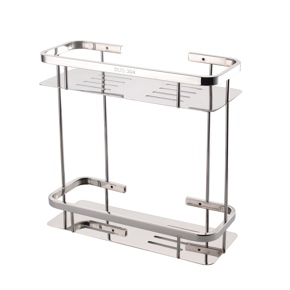 Wall-mounted double-bathroom shelf,304 stainless steel shelves,Bathroom hardware accessories 304 stainless steel 280 140 500mm bathroom shelf bathroom products bathroom accessories 29016