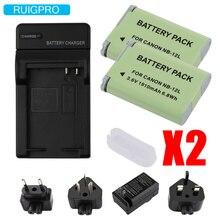 RuigPro NB12L Charger +2pcs DSLR Camera NB-12L NB 12L Battery For PowerShot N100,VIXIA mini X,G1 X Mark 2 цена и фото