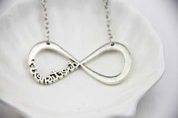 Fashion Jewelry Antique Silver Plated Charm One Direction Directioner Infinity Pendant Necklace For Men And Women