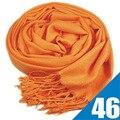 46 colores disponibles de fashoin Nuevo gigante hembra bufanda de la borla Larga grande de imitación de la cachemira bufanda chal