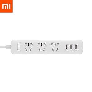 Image 1 - Originele Xiaomi Smart Home Elektronische Power Strip Socket Snel Opladen 3 Usb Met 3 Stopcontacten Standaard Plug