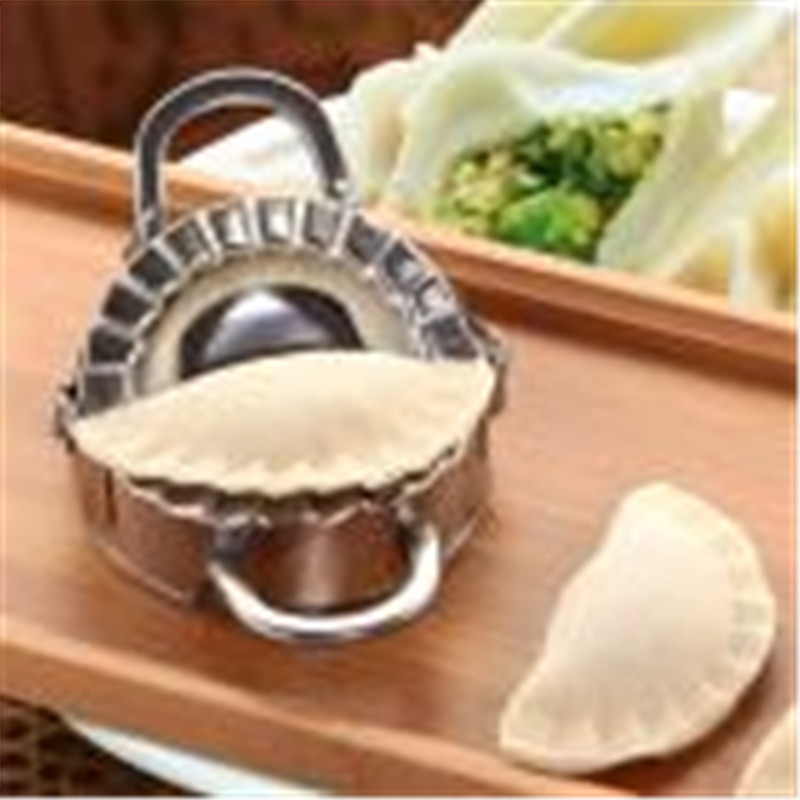 1pc Eco-Friendly Pastry Tools Stainless Steel Dumpling Maker Wraper Dough Cutter Presser Making Machine Kitchen Cooking