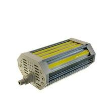 10 шт./лот COB R7S 30 Вт J118 с регулируемой яркостью 118 мм лампа без вентилятора Бесшумная Замена 300 Вт галогеновая лампа AC110V 220V
