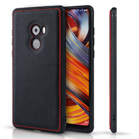 For Xiaomi Mix 2 Back Case Hand Made Genuine Leather Brand Rear Cover Mobile Phone Bag