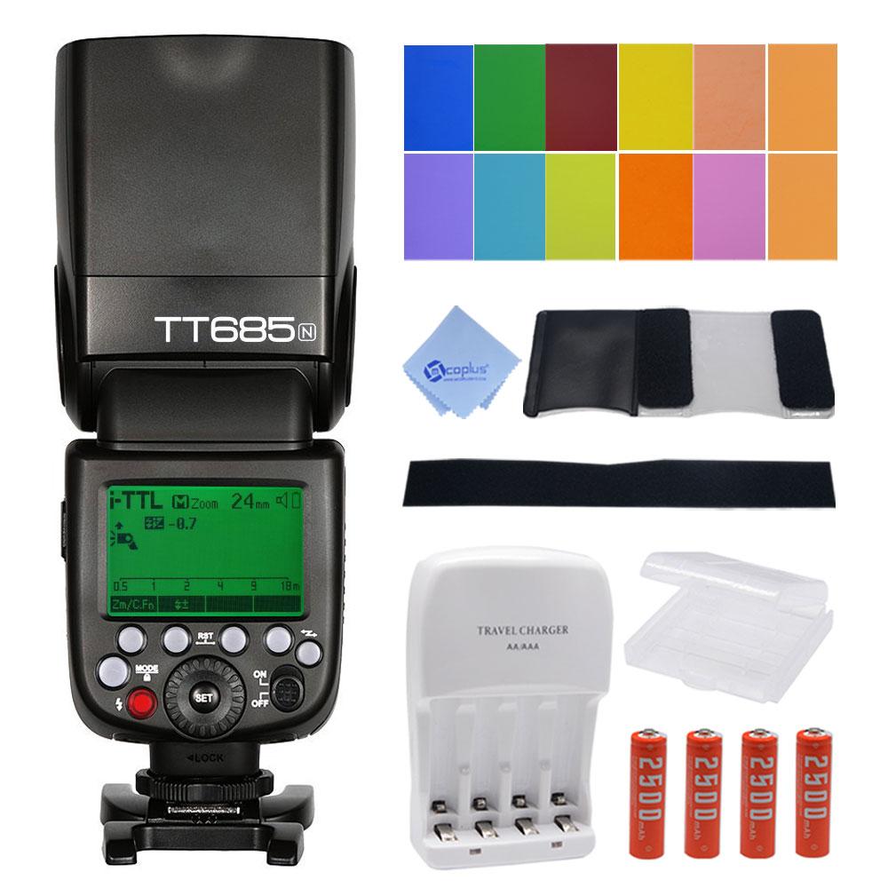 Godox TT685N Camera Flash High Speed 1 8000s GN60 for Nikon DSLR Cameras D800 D700 D7100