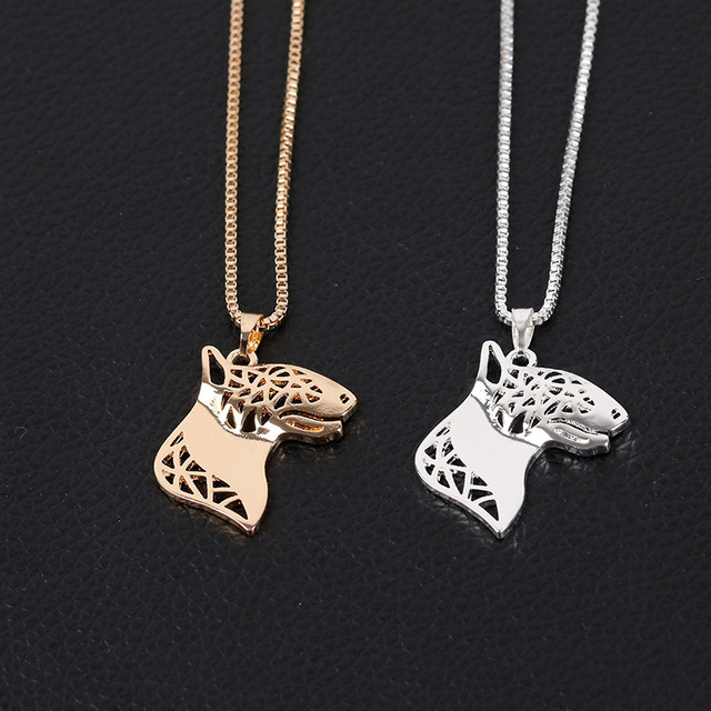 shunyun Pet Dog Bull Terrier Pendant Necklaces Pet Memorial Jewelry