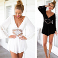 Milankerr New Women Jumpsuit Rompers Hand crocheted Playsuits Romper Ladies Shorts Hollow Bodysuit Sexy Backless Summer Beach
