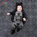 Keelorn Conjuntos de Ropa de Bebé 2017 Verano Nueva ropa Del Bebé Del estilo de Dibujos Animados de impresión de manga corta t-shirt + pants 2 unids ropa del bebé