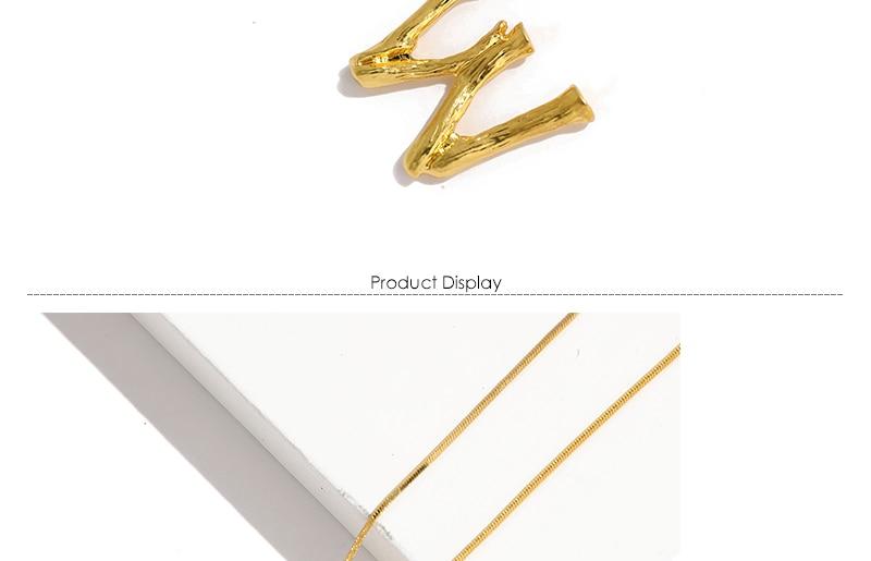 Initial Letters Necklace Women Gold Color Chain 18 Fashion Long Necklaces Big Pendant Boho Statement Necklace Collier Femme 3