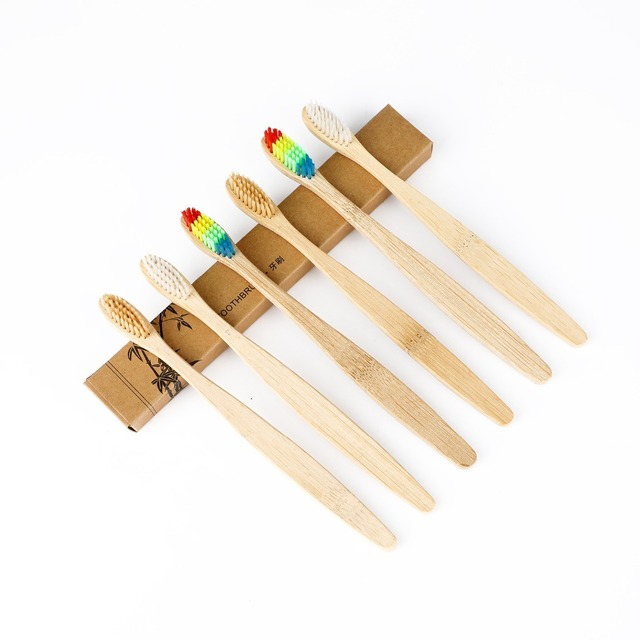 1Pcs Toothbrush Personal Health Environmental Bamboo Toothbrush Oral Care Teeth Medium Eco friendly Soft Brushes Teeth Whitening