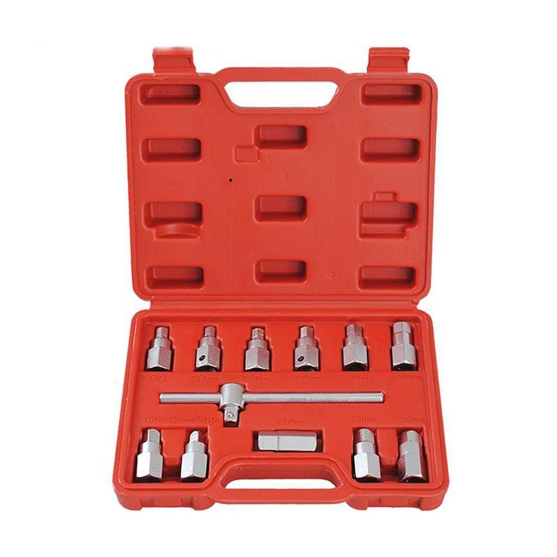 Universal Hexagon Drain Plug Key Socket Set Sump Oil Sockets Axle Car GearBox