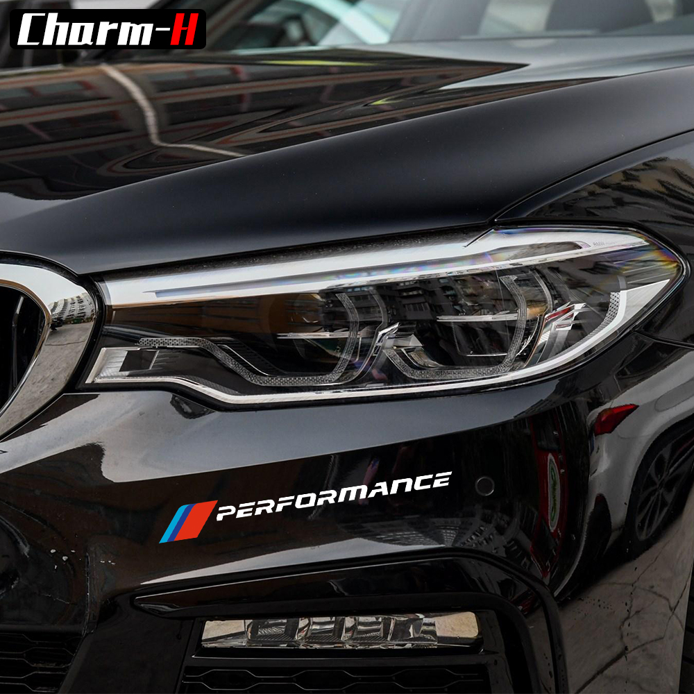 2pcs Front Bumper Decal M Performance Stickers For BMW e90 e46 e39 e60 f30 f31 g30 f85 f16 f10 f34 x3 x4 x5 e70 f15 x6 M3 M5 Z4