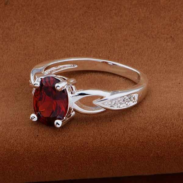 925-สเตอร์ลิง- s Ilverแหวนแฟชั่นJewerlyผู้หญิงและผู้ชายอร่าม/หินสีแดง/ avlajmsa chrakyya AR566