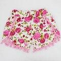 2015 новый леопард рюшами кружева шаровары крышка пеленки, Девочки шорты печатные цветы