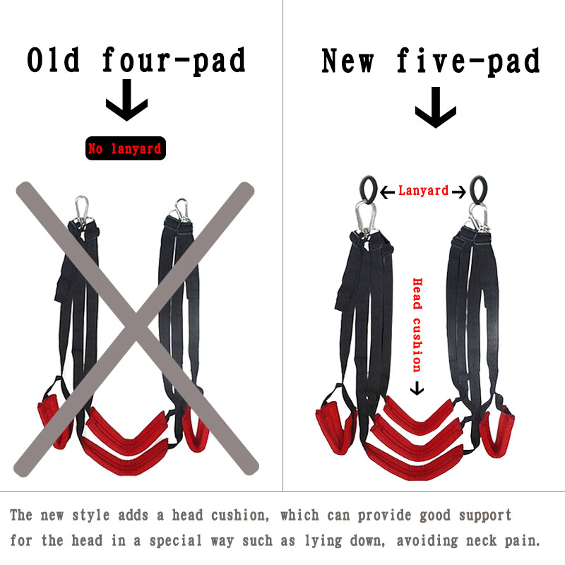 Sex Product Love Sex Swing Soft Material Hanging Door Swing Portable Thigh Restraint Sling Swing Sex Toys For Couple