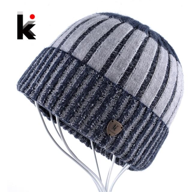 Mens Skullies Touca Thicker Fringe Designer Beanie Wool Hat Knitted Boy Caps  Bonnet Beanies Winter Stocking 916a89fa5b7