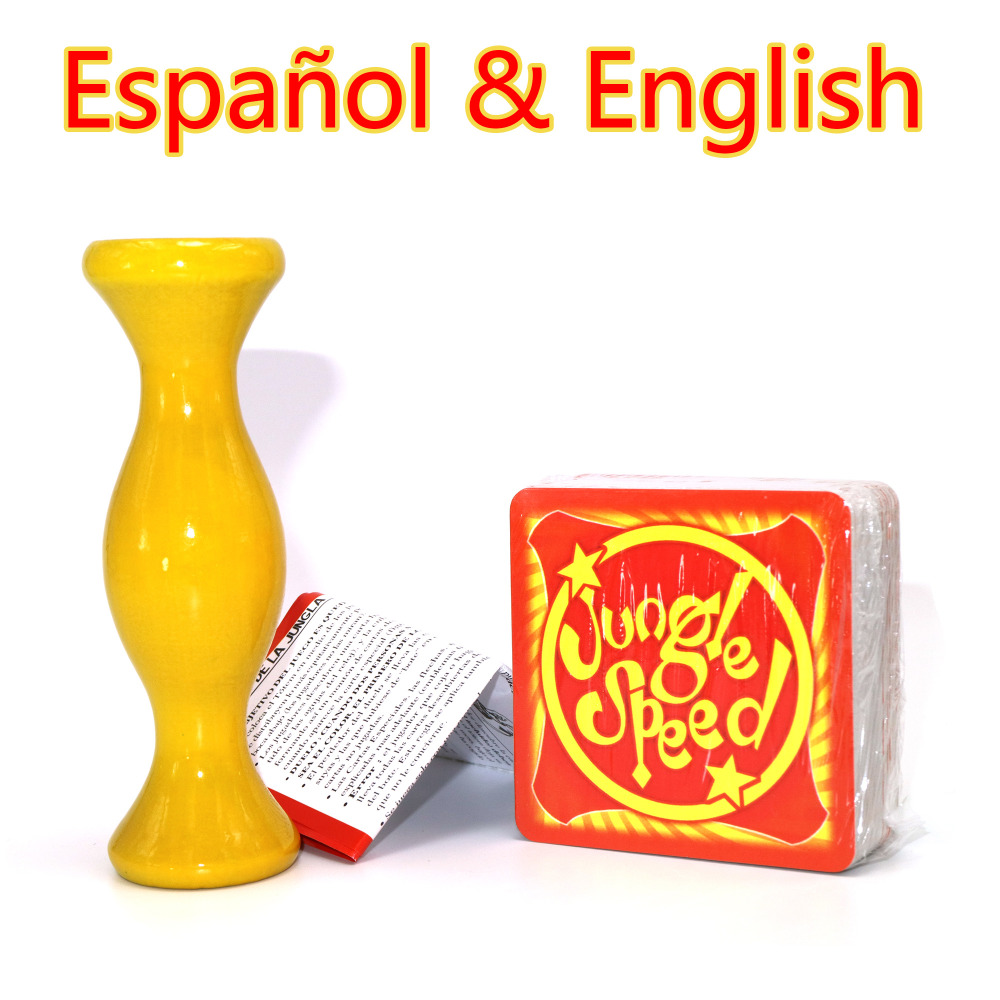 high quality jungle speed Full English Version suitable for meetups community family 2-5 players cards toys board game top high speed full teeth piston
