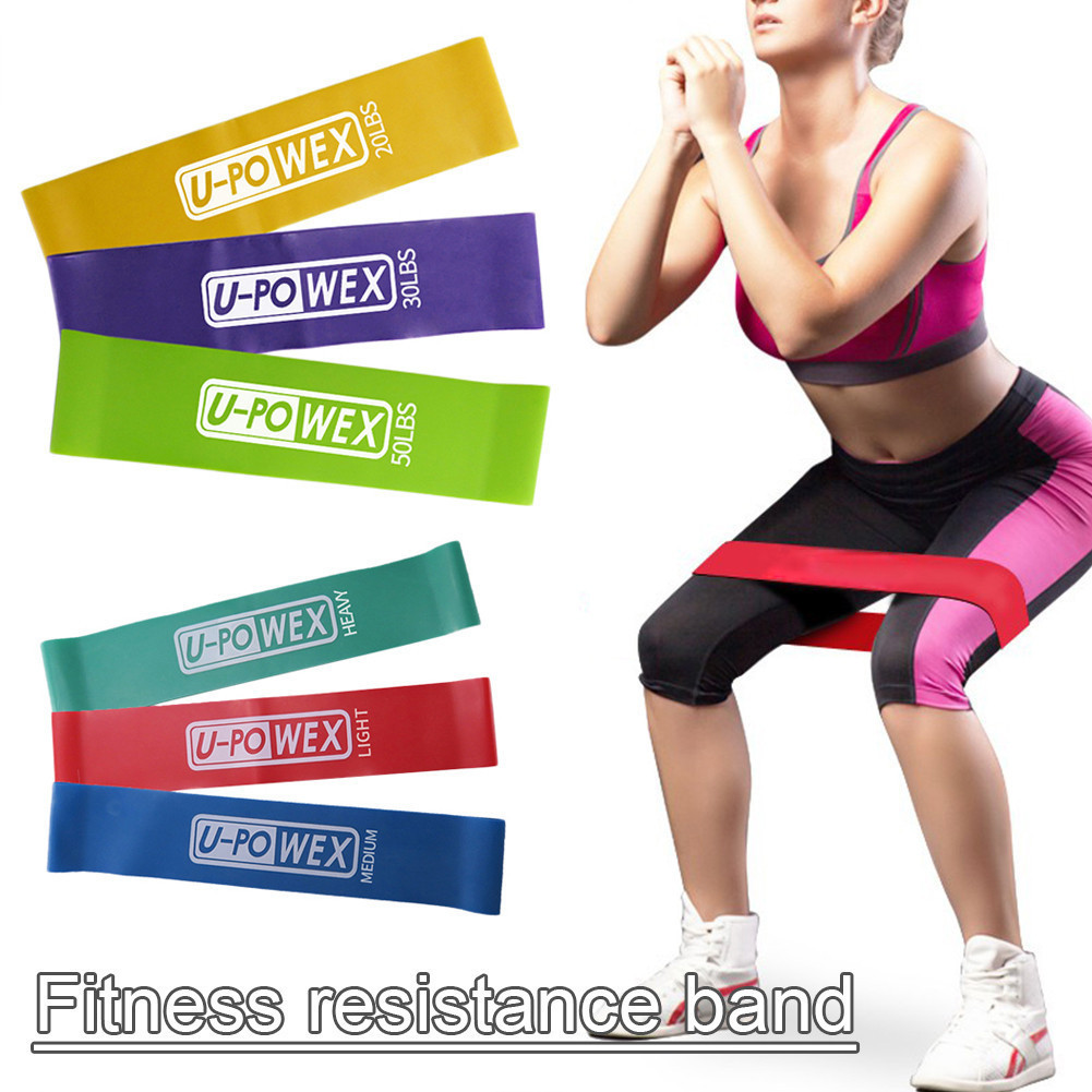 3Pcs/Set) Rubber Loop Bands Set Training Workout Resistance Bands for Sports Exercise CrossFit Stretching Fitness Body ...