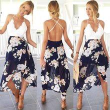 купить Lace Patch Work Summer Chiffon Dress Floral Printed Spaghetti Strap Sexy Wrap Dress Women Summer Clothes for Women дешево