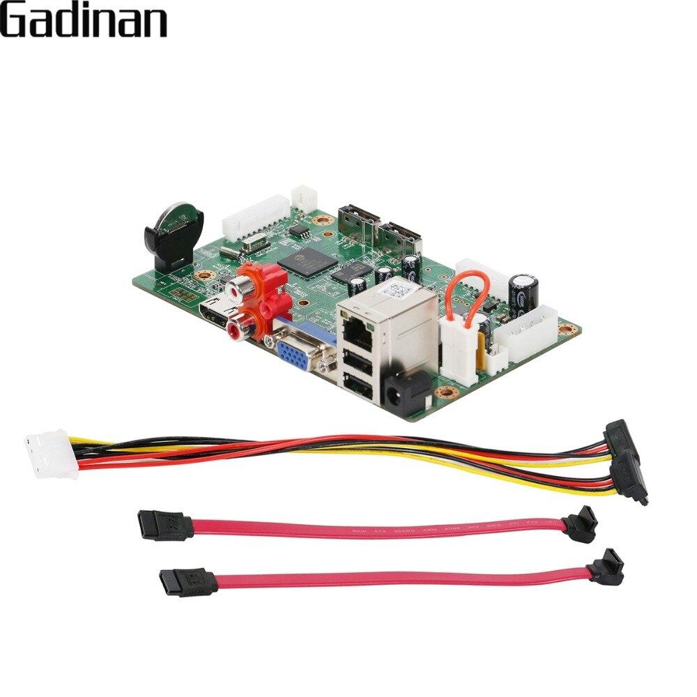 GADINAN H.265 Hi3536C NVR 25CH * 5MP/8CH 4 K/32CH * 1080 P Réseau Enregistreur Vidéo Numérique 4 K Sortie ONVIF CMS XMEYE P2P Mible CCTV