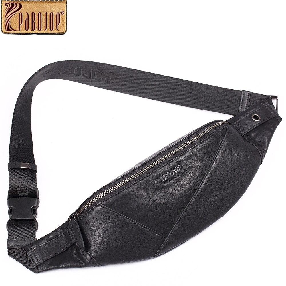 Pabojoe Crossbody Bags for Men Genuine Leather Chest Bag Shoulder Messenger Men Bags pabojoe duffle bags 100