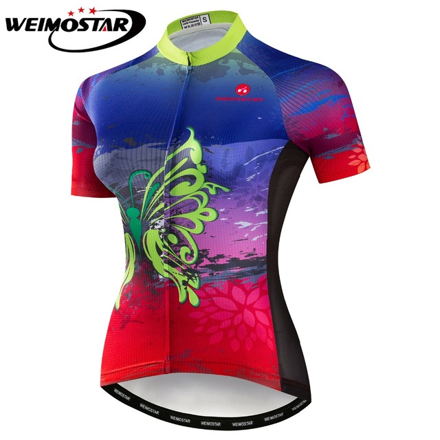 Summer Women Cycling Jersey Bike Shirt Road MTB Bicycle Clothing Short  Sleeve Maillot Ropa Ciclismo Female Racing Top Butterfly a7f7c1af2