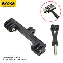 EKOSA Double Bracket For Gopro Hero 5 four three+ Mount Adapter Monopod For Gopro SCJAM SJ4000 Motion Digicam Equipment