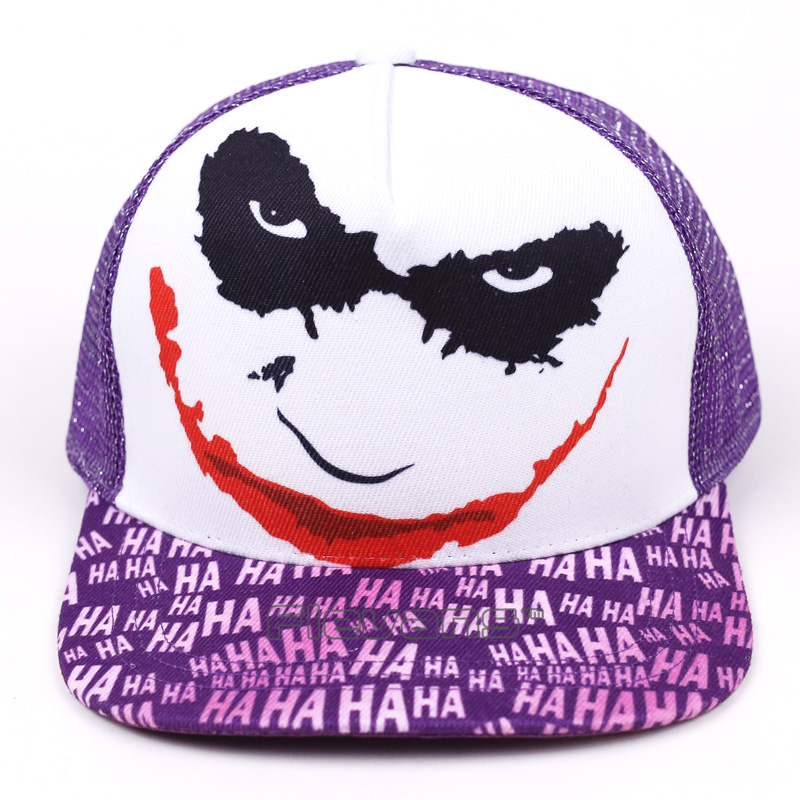 Batman The Joker Print Snapback Hat Men Women Summer Caps Hats Cool Novelty Hip Hop Baseball Cap aetrue winter knitted hat beanie men scarf skullies beanies winter hats for women men caps gorras bonnet mask brand hats 2018