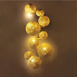 Image 5 - 골드 럭셔리 벽 램프 배경 홈 실내 거실 침실 크리 에이 티브 패션 조명 현대 유리 공 조명 LED