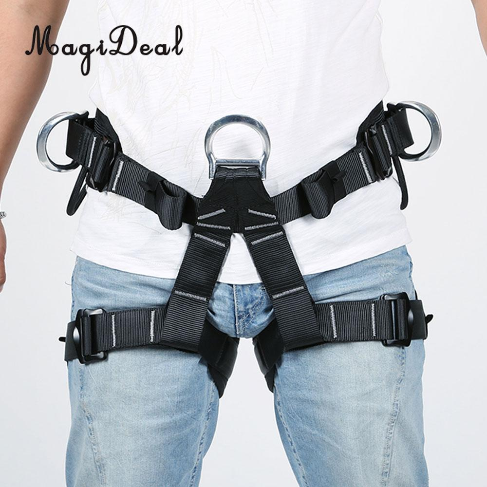 все цены на MagiDeal Polyester Outdoor Equipment Harness Bust Seat Belt Rock Climbing Rappelling Floor Escape Adjustable Harness Accessory