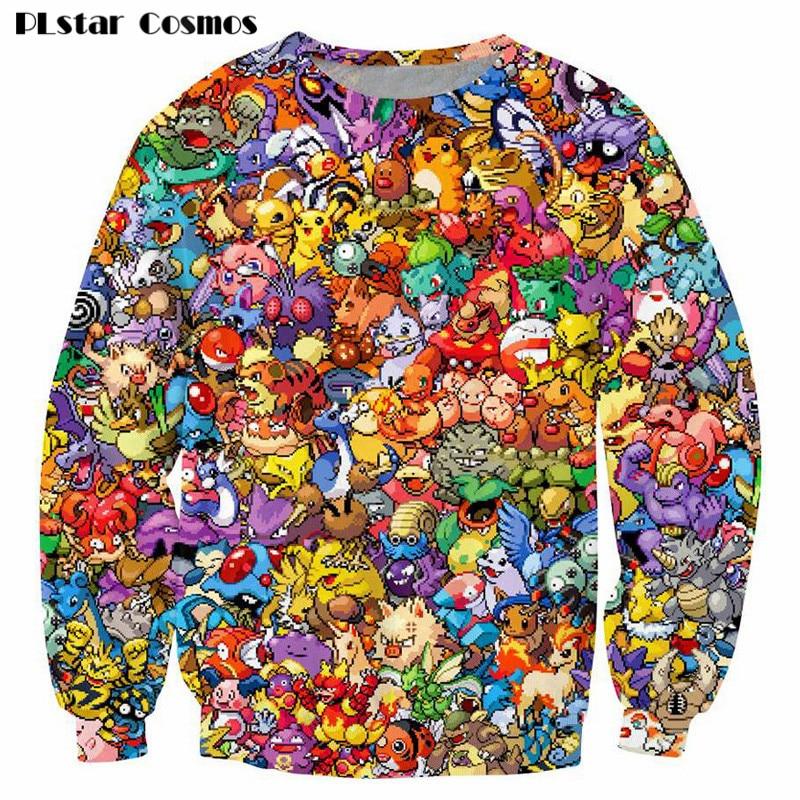 plstar cosmos pokemon 8 bit collage pokemon sweatshirt women men 90s video game anime 3d print. Black Bedroom Furniture Sets. Home Design Ideas