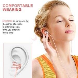 Image 2 - MEUYAG מתכת מגנטי אוזניות ספורט ריצה ב אוזן אוזניות דיבורית אוזניות אוזניות עם מיקרופון סטריאו אוזניות