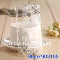 New 2013 Woman Gift 3D Bling Case Crystal Diamond Flower Hard Back Cover For Sony Xperia