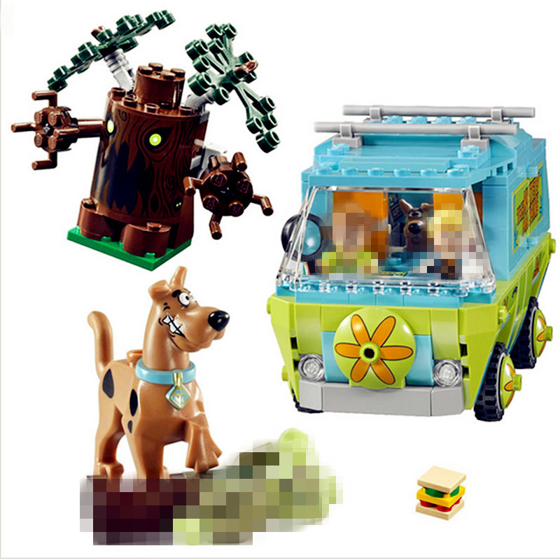 IN STOCK H HXY 10430 305Pcs Compatible Scooby Doo The Mystery Machine 75902 Building font b