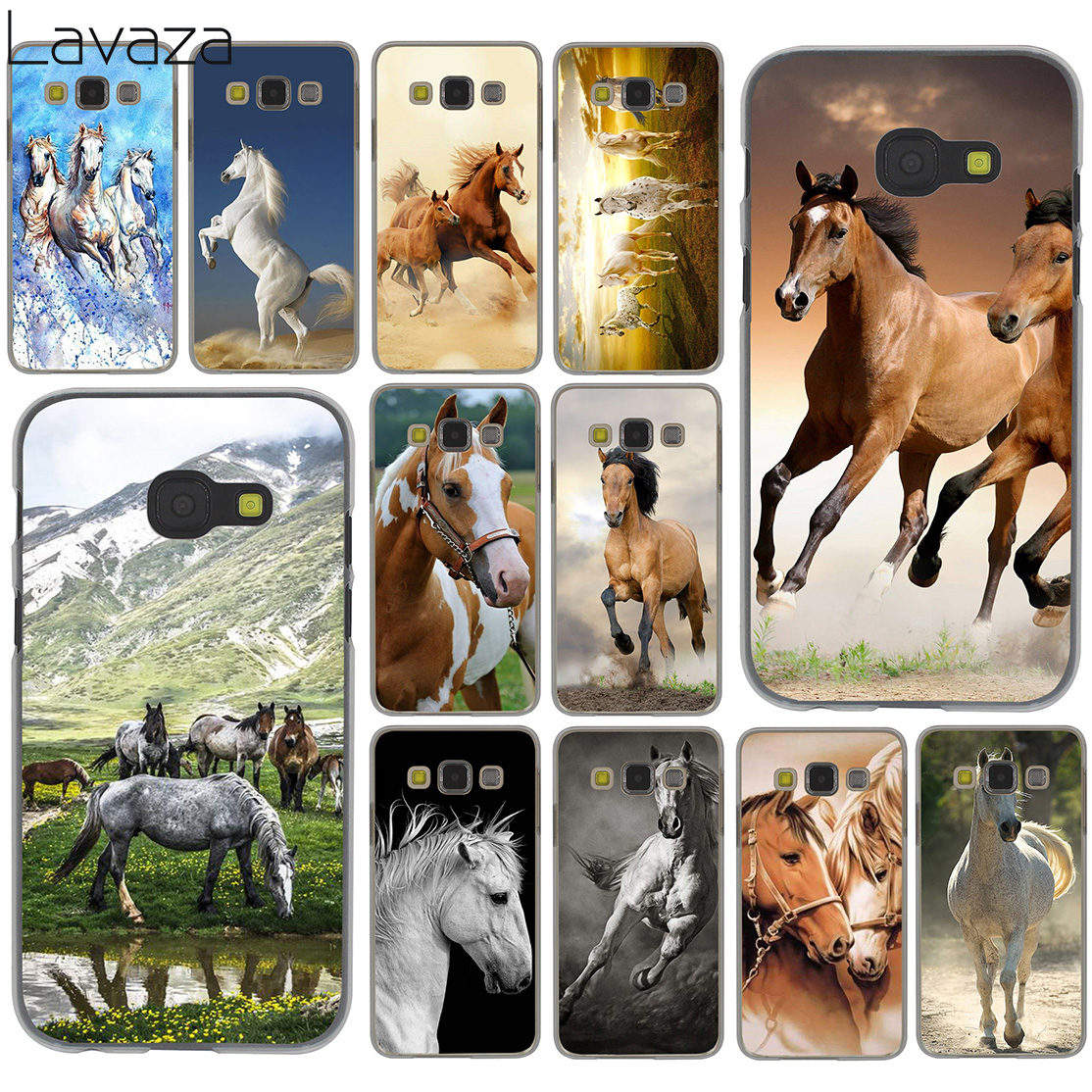 Lavaza – coque rigide pour Samsung Galaxy Note 10, 9, 8, A9, A8, A7, A6 Plus 2018, A5, A3, 2015, 2016, 2017, A2
