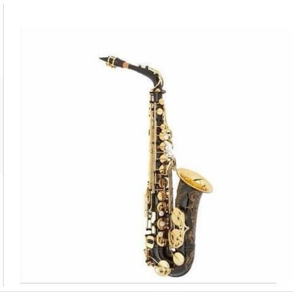 New High Quality Saxophone Alto E-flat Sax Top Musical Instruments Professional Black Saxophone free shipping brand new soprano saxophone yss 475 bronze b flat playing professionally one straight top musical instruments professional grade