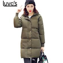 LUVCLS Hooded Casual Warm Parkas Winter Coat Women Long Sleeve Ladies Basic Jacket Cotton Parkas Woman Winter Coats And Jackets