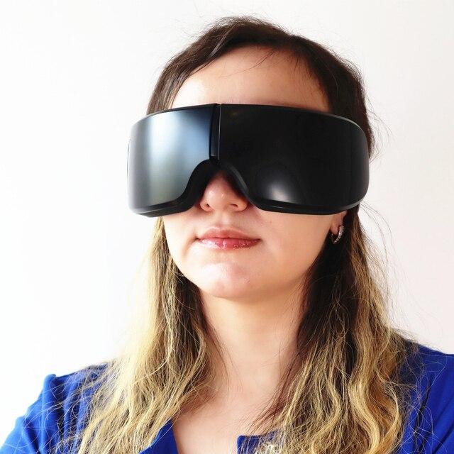 Terapia de masaje ocular inalámbrico masajeador de ojos inteligente portátil arrugas de hinchazón Círculos oscuros Reduce el alivio del estrés ocular