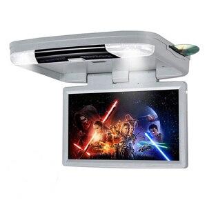 Image 3 - DVD плеер 15,6 дюймов FHD 1080P Автомобильный Монитор крыша с HDMI портом/USB/SD встроенный ИК/FM передатчик откидной потолочный ТВ для автомобиля