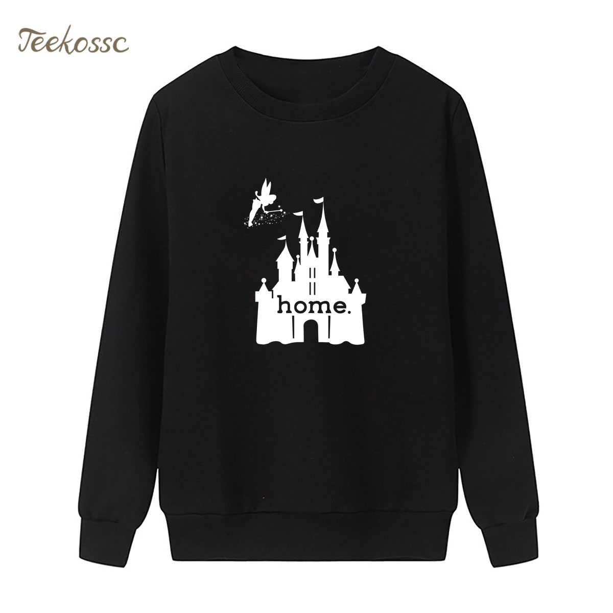 Fairy tale castle Is My Home Kawaii Sweatshirt Cute Print Hoodie Winter Autumn Women Lasdies Pullover Loose Fleece Streetwear
